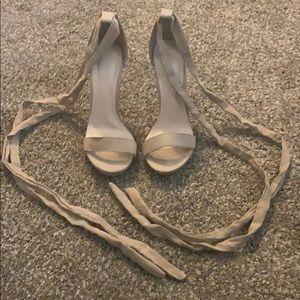 Tan Ankle Tie heels